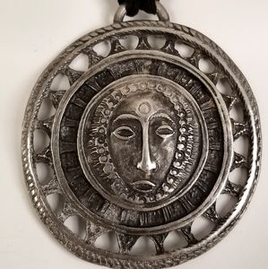 Pendant Sun Made of Pewter